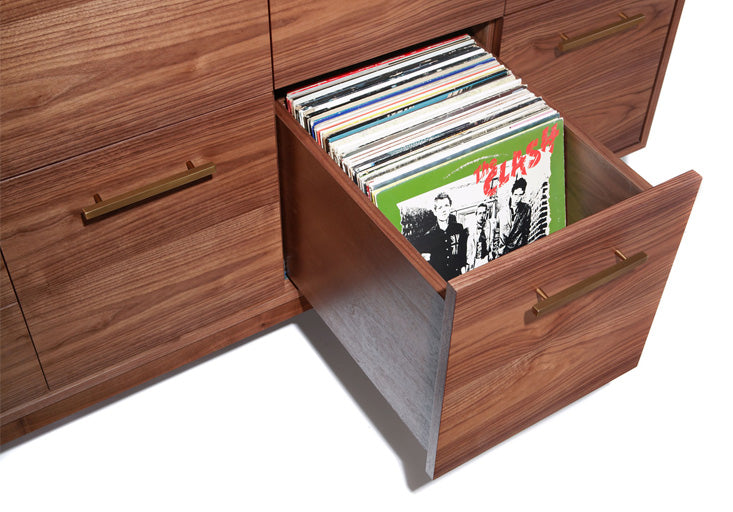 We like to keep about 95 LPs per drawer to allow room to view the cover artwork.