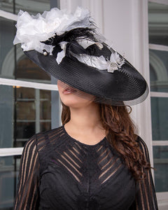 Monochrome Feather Fascinator