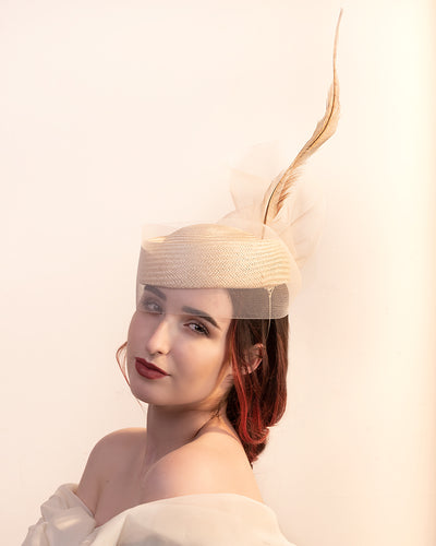 Crinoline Pillbox Hat