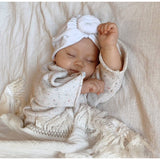 Ziggy Lou CREAM SWADDLE WITH CREAM FRINGE