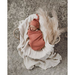 Clay Snuggle Swaddle And Beanie Set