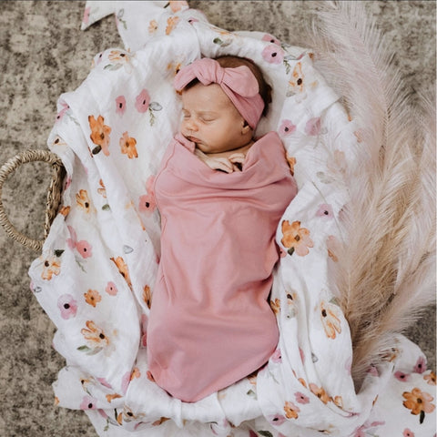 Jewel Snuggle Swaddle And Top Knot Set