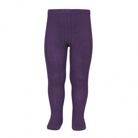 BASIC RIB TIGHTS AUBERGINE