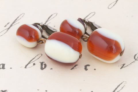 Late 1940's Lucite Earrings