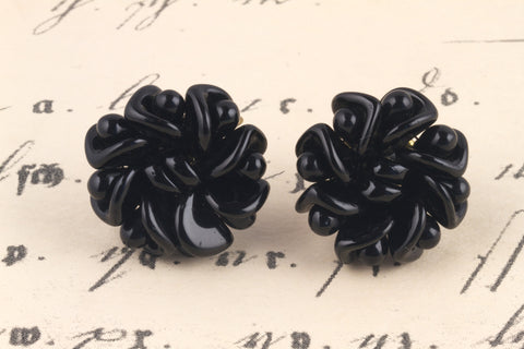 1950's Glass Flower Earrings