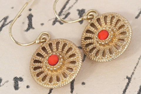 Filigree Gold Plated Earrings