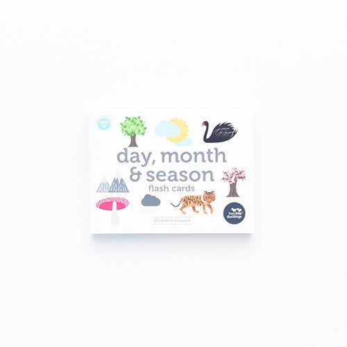 Two Little Ducklings Days, Months and Seasons Flashcards - Literacy Resource