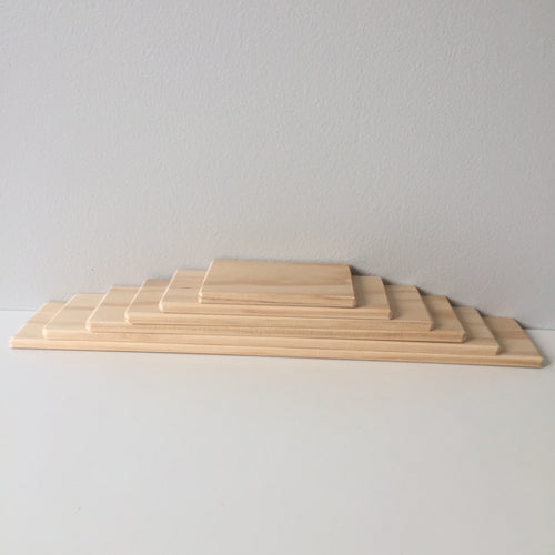 Natural Hand Crafted 8mm thick Building Boards Small Set of 6