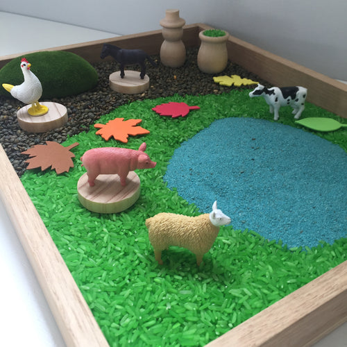 Farm Animal Small World Set 2 Including Large Play Tray
