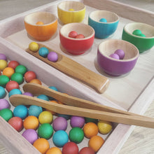 Load image into Gallery viewer, Coloured Wooden Bowls Set of 6