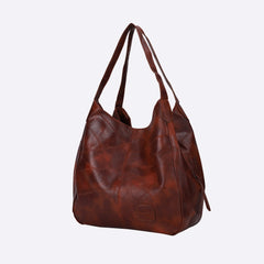 Women's Faux Eco Leather Oversized Tote Bag