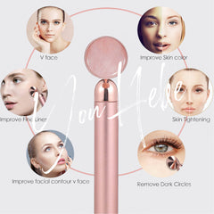 YouHebe jade face massager improves skin color, tightens skin, removes dark circles, improves facial counter