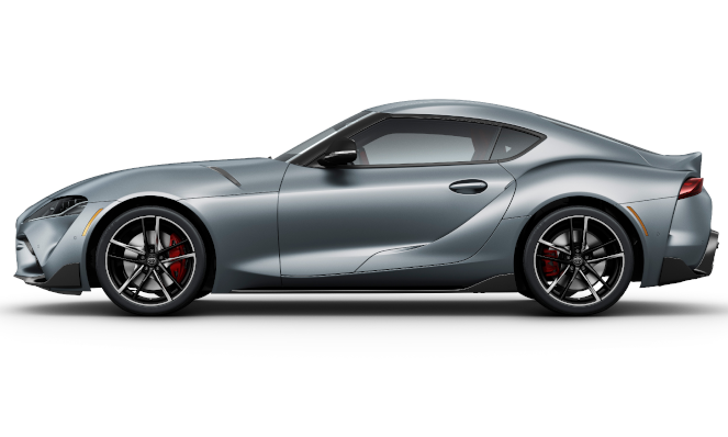 Side-view of the 2020 Toyota Supra GR