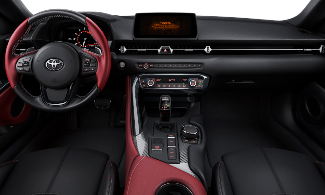 Interior view of the 2020 Toyota Supra