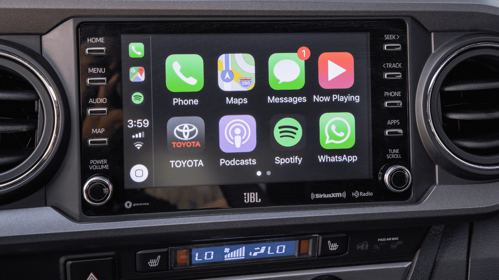2020 Toyota Tacoma Apple CarPlay Infotainment Screen