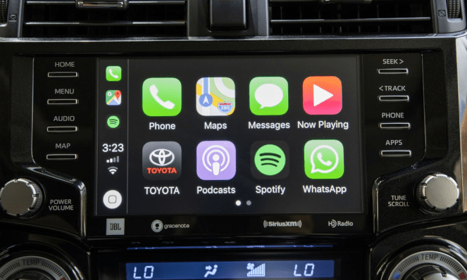 2020 Toyota 4Runner Apple CarPlay Home Screen
