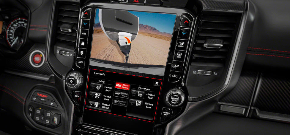 2021 Ram 1500 TRX Uconnect 4C 12-inch touchscreen  with trailer steering