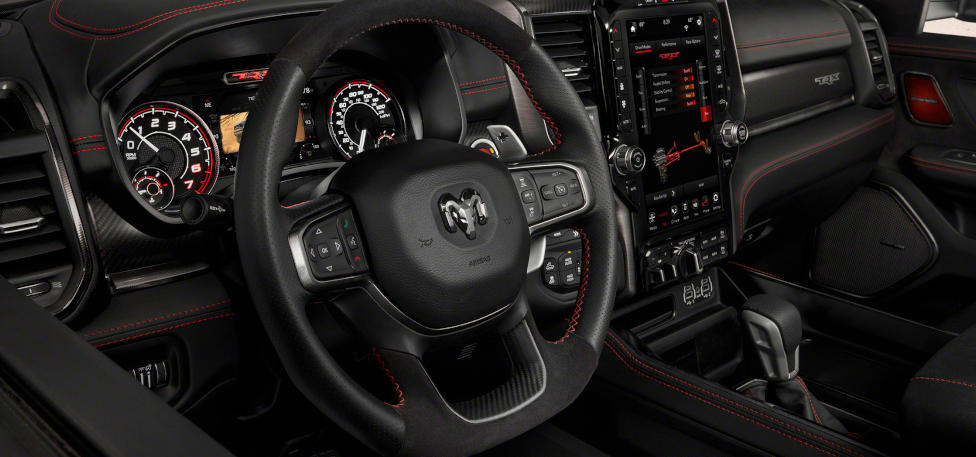 2021 Ram 1500 TRX Uconnect 4C 12-inch touchscreen infotainment features