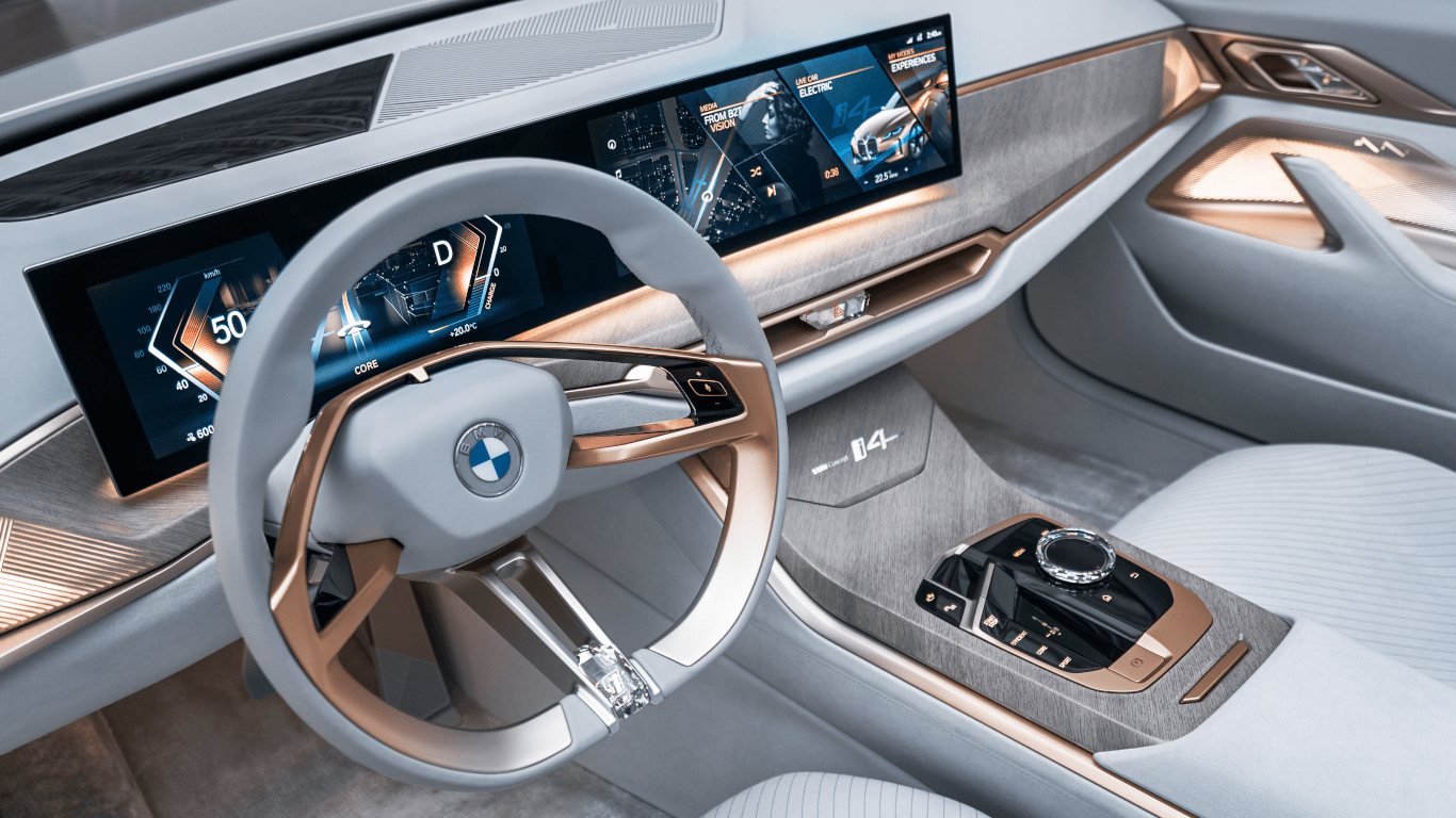 BMW Concept i4 Infotainment View