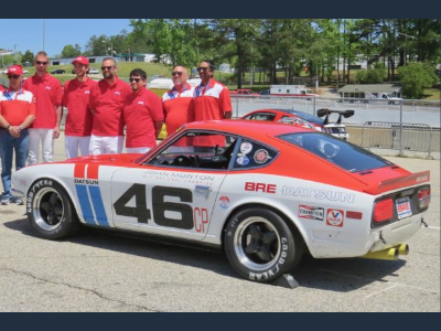 The 1969 BRE Datsun 240z racing vehicle that was the model for the 2020 Nissan 370z