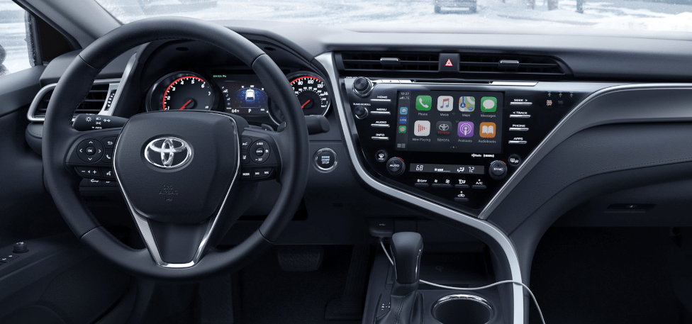 2020 Camry XLE with All-Wheel Drive Infotainment Touchscreen and Interior