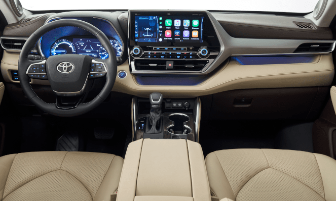 The new 2020 Toyota Highlander Interior