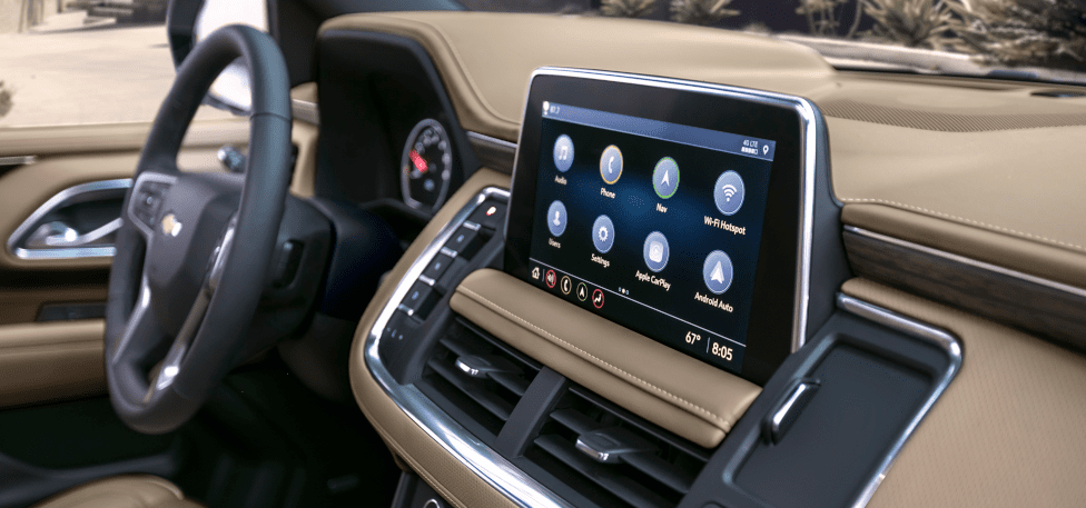 2021 Chevrolet Suburban and Tahoe infotainment screen