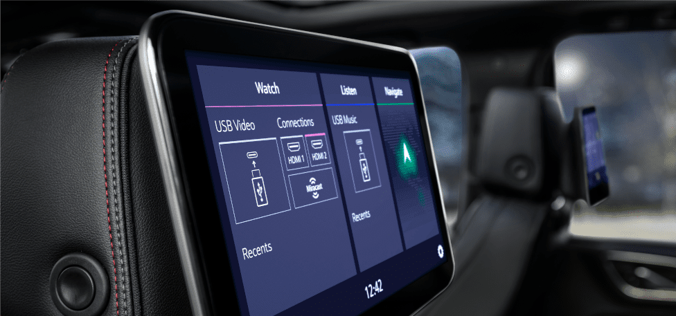 2021 Chevrolet Suburban and Tahoe rear infotainment screen