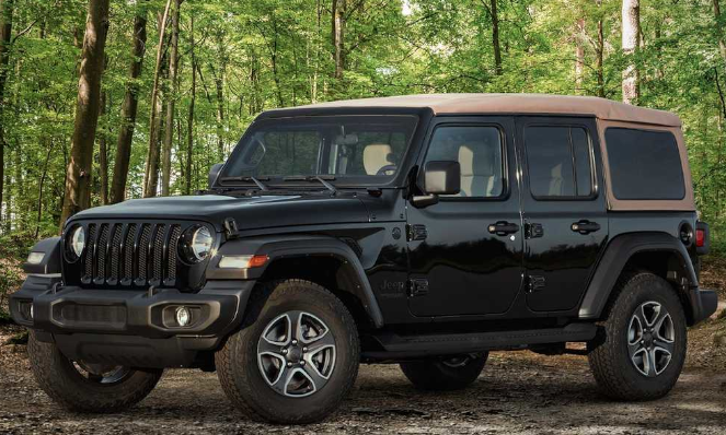 Jeep Wrangler Black and Tan Edition Exterior View
