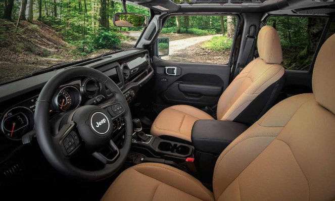 Jeep Wrangler Black and Tan Edition Interior View
