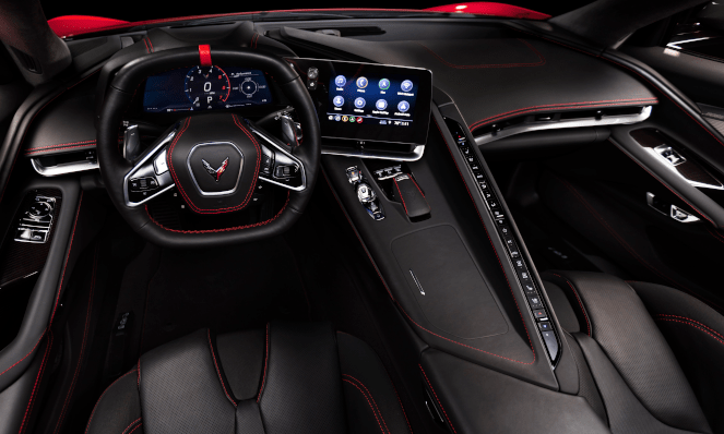 2020 Chevorlet Corvette Stingray Infotainment Screen and Interior