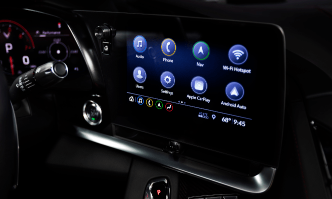 2020 Chevorlet Corvette Stingray Infotainment Screen