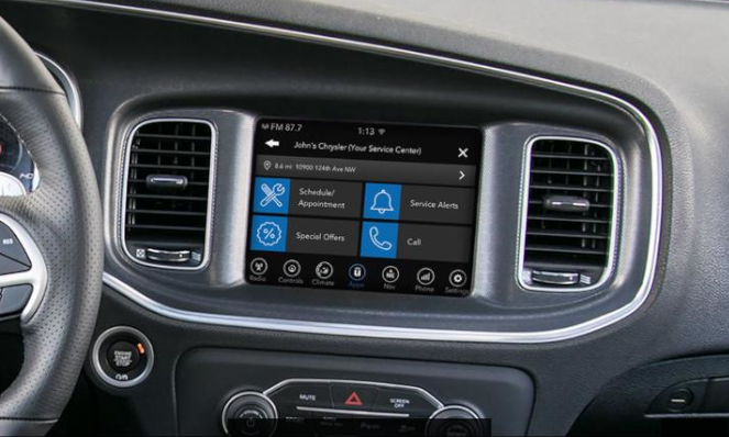 The Uconnect Market App in the Jeep Grand Cherokee
