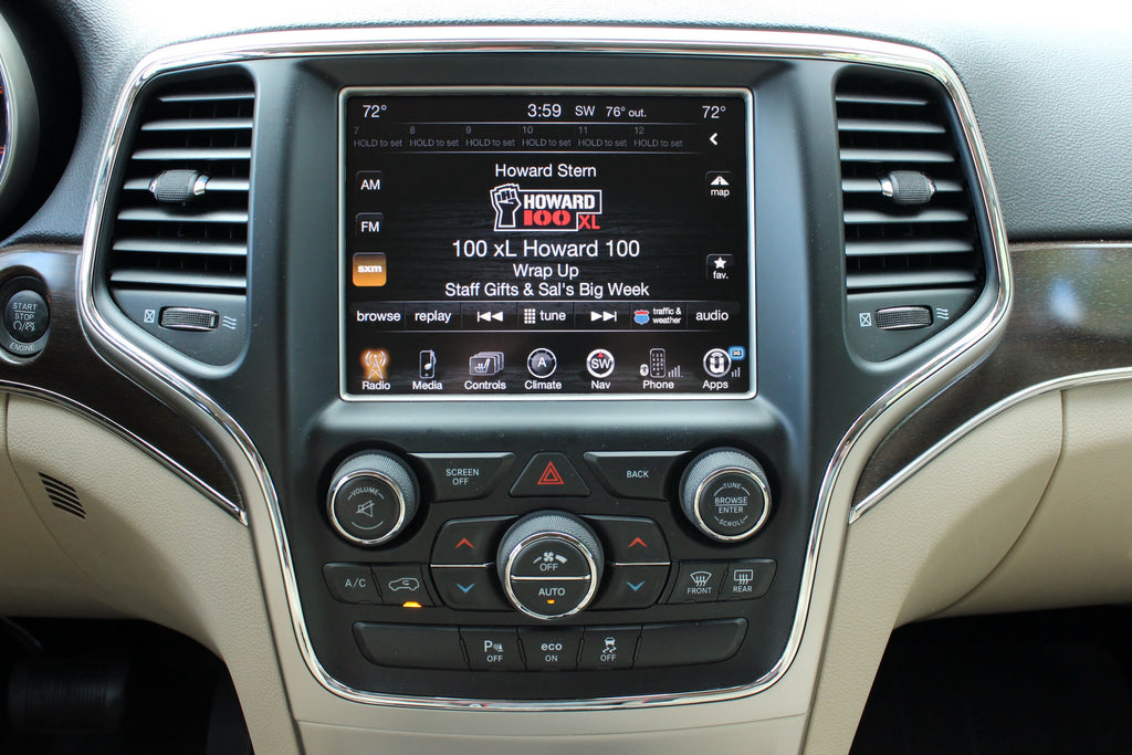 2014-2017 Jeep Grand Cherokee GPS Navigation 8.4AN RA4 ...