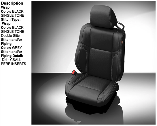 2015-2019 Dodge Challenger Katzkin® Leather Seating Upgrade