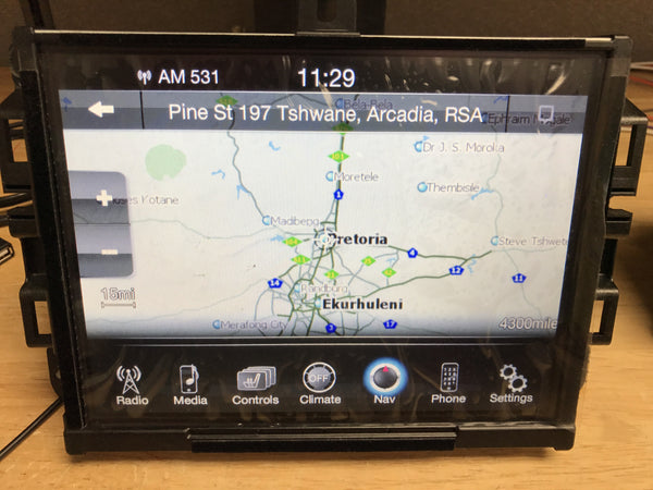 Chrysler Dodge Jeep Ram RJ4 VP4 ROW Australia Middle East South America GPS Navigation Radio