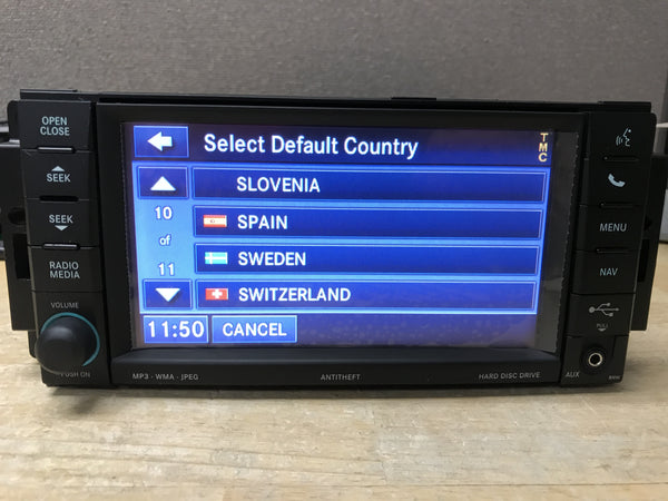 Chrysler Dodge Jeep Ram RHW 735N MyGIG Media Center European GPS Navigation Radio
