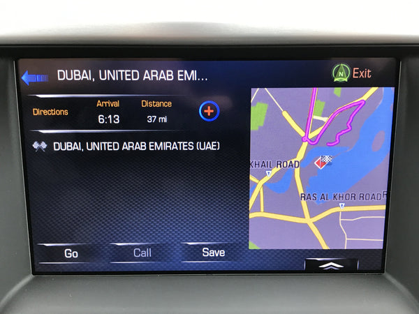 GM Middle East MAM IO6 GPS Navigation Radio Upgrade