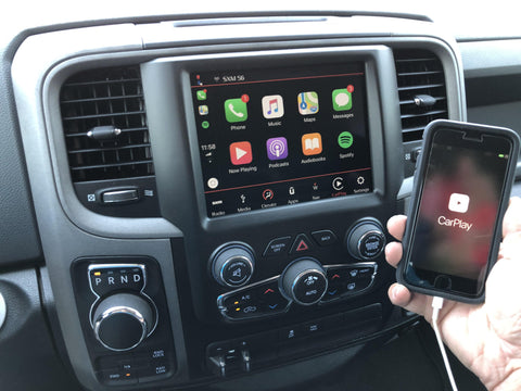 2013-2019 Ram 1500 2500 3500 8.4 4C NAV UAQ Retrofit Kit with Apple CarPlay & Android Auto