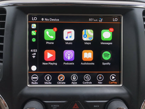 Uconnect UJQ ROW Australia Middle East South America GPS Navigation Radio with Apple CarPlay and Android Auto