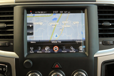 Infotainment Ram 1500 2500 3500 GPS Navigation 8.4AN RA4 Radio Upgrade