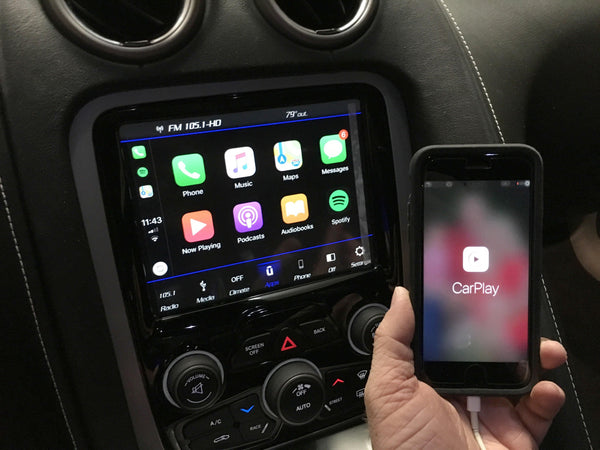 2013-2017 Dodge SRT Viper 8.4 4C NAV UAQ Retrofit Kit with Apple CarPlay & Android Auto