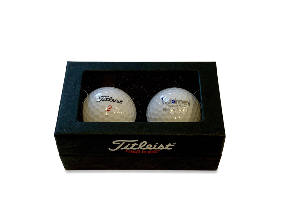 Infotainment.com Titleist 2 Ball Business Card Box - DT TruSoft