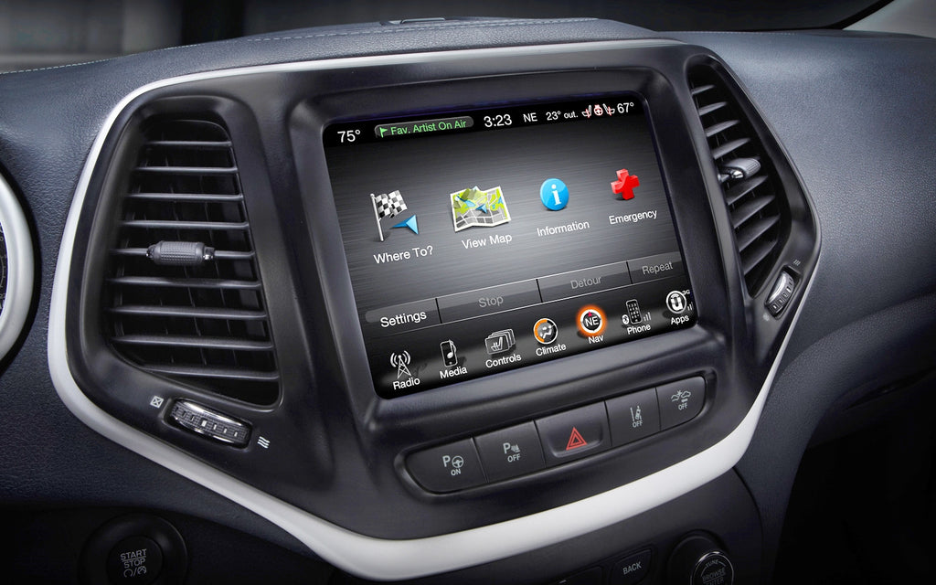 2014-2018 Jeep Cherokee GPS UConnect Navigation 8.4AN RA4 Radio Upgrade