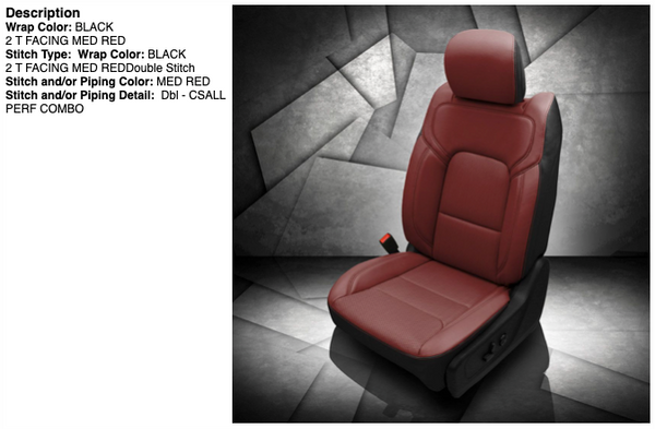 2019-2020 Ram 1500 DT Katzkin® Leather Seating Upgrade