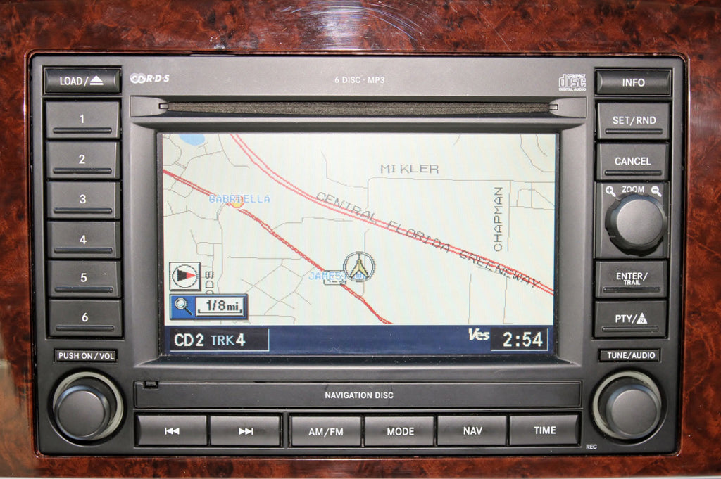 2004-2007 Dodge Durango GPS Navigation REC Radio