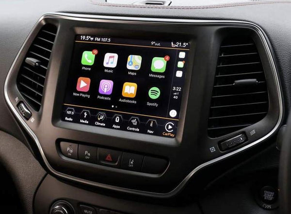 2014-2019 Jeep Cherokee GPS Navigation 8.4 4C NAV UAQ Radio with Apple CarPlay & Android Auto