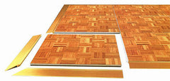 Wood Parquet Dance Floor Rental - 4'x4' Sections
