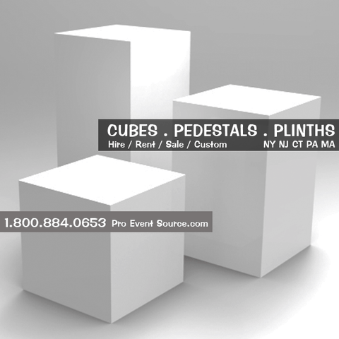 Display Cube, White - 18in x 18in x 18in (DF) - DISPLAY / PROP ONLY