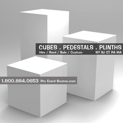 Display Cube, White - 12in x 12in x 12in (DF) - DISPLAY / PROP ONLY